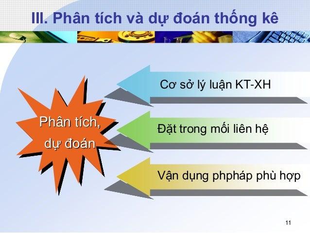 III. Phân tích và dự đoán thống kê Phân tích, dự đoán Cơ sở lý luận KT-XH Đặt trong mối liên hệ Vận dụng phpháp phù hợp 11