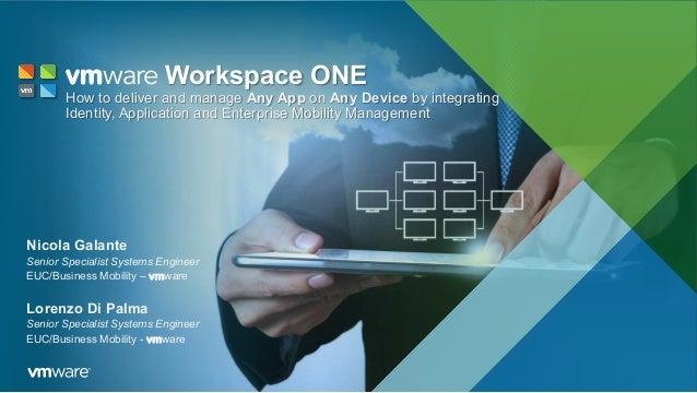 Nicola Galante Senior Specialist Systems Engineer EUC/Business Mobility – vmware Lorenzo Di Palma Senior Specialist System...