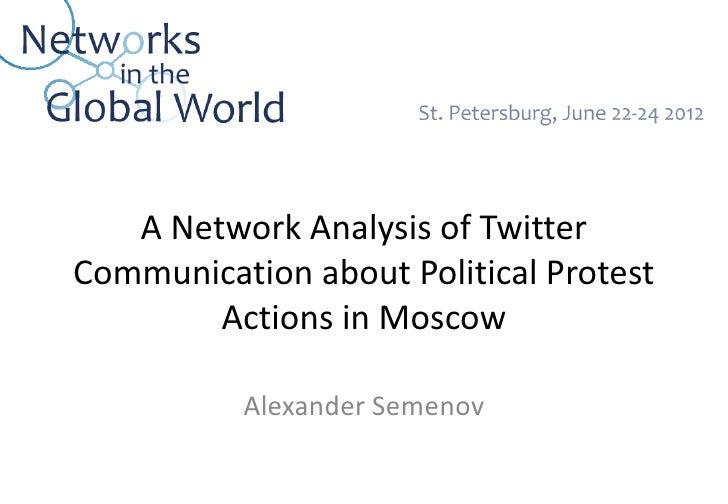 A Network Analysis of TwitterCommunication about Political Protest        Actions in Moscow          Alexander Semenov