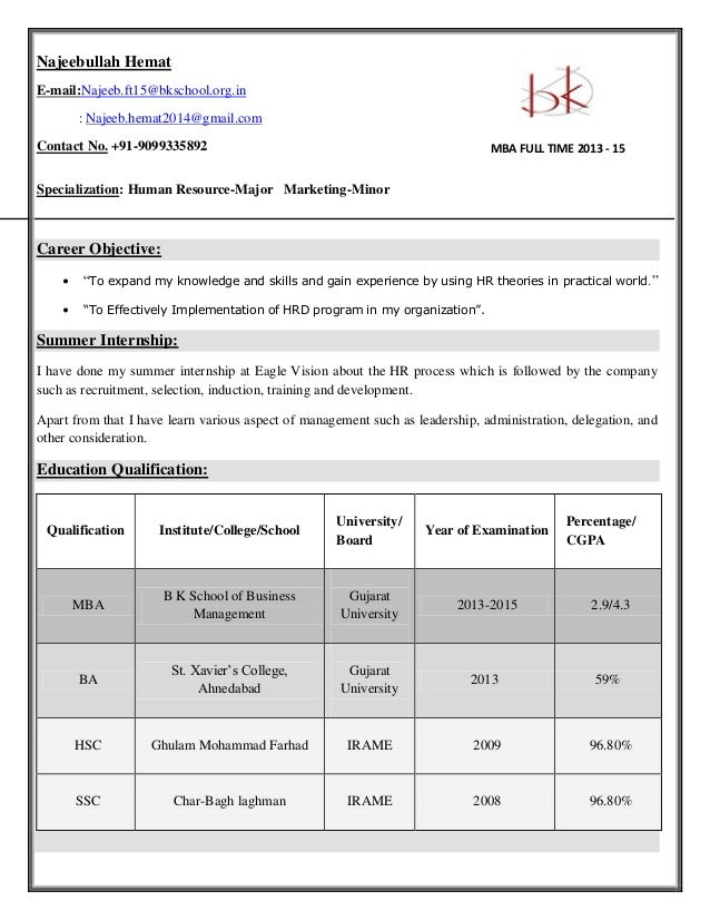 Najeebullah Hemat E-mail:Najeeb.ft15@bkschool.org.in : Najeeb.hemat2014@gmail.com Contact No. +91-9099335892 Specializatio...