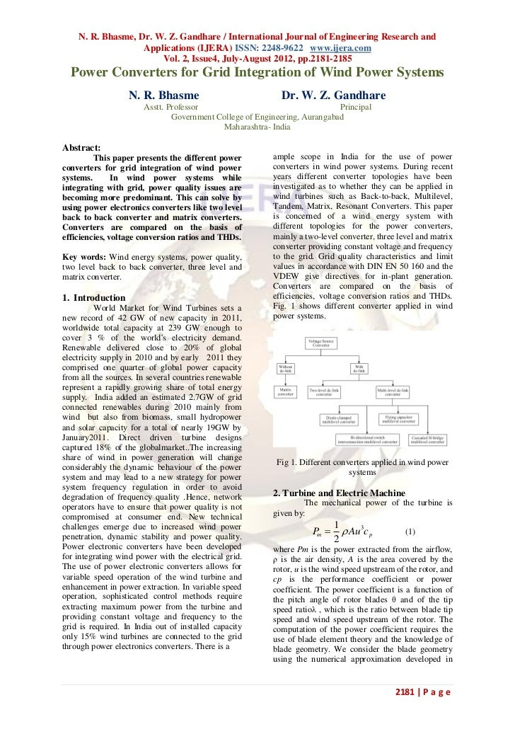 N. R. Bhasme, Dr. W. Z. Gandhare / International Journal of Engineering Research and                   Applications (IJERA...