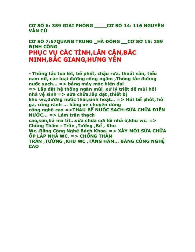 Tại Tô Hiệu_0983667557 _Chuyên thông tắc Bồn cầu  Cống  Chậu rửa _Thoát Sàn _Giá rẻ( KO ĐỤC PHÁ ) Slide 3