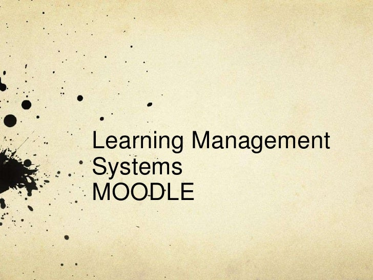 Learning Management Systems MOODLE