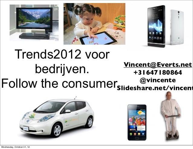 Trends2012 voor                     Vincent@Everts.net      bedrijven.        +31647180864                          @vince...