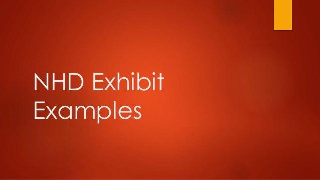 NHD Exhibit Examples