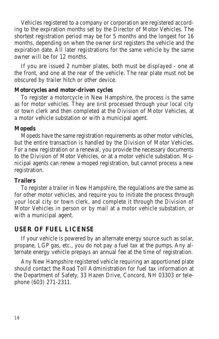 Nhdm for Department of motor vehicles concord new hampshire