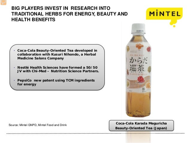 BIG PLAYERS INVEST IN RESEARCH INTO TRADITIONAL HERBS FOR ENERGY, BEAUTY AND HEALTH BENEFITS • Coca-Cola Beauty-Oriented T...