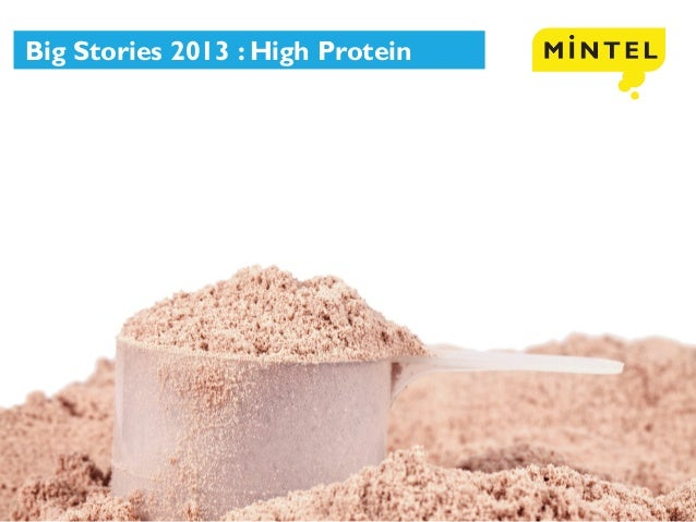 © 2013 Mintel Group Ltd. All Rights Reserved. Confidential to Mintel. Big Stories 2013 : High Protein