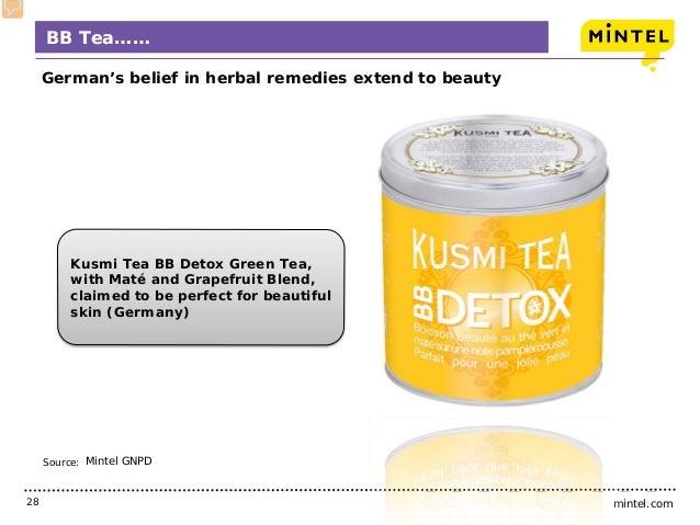 mintel.com28 Source: BB Tea…… German's belief in herbal remedies extend to beauty Mintel GNPD Kusmi Tea BB Detox Green Tea...