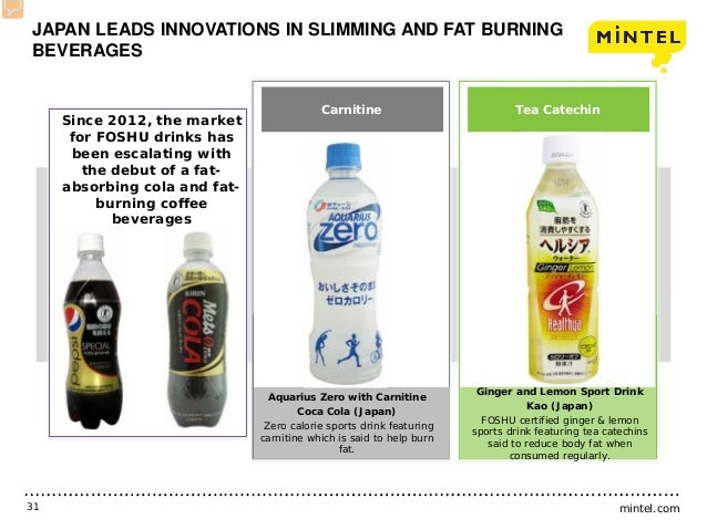 mintel.com31 Since 2012, the market for FOSHU drinks has been escalating with the debut of a fat- absorbing cola and fat- ...