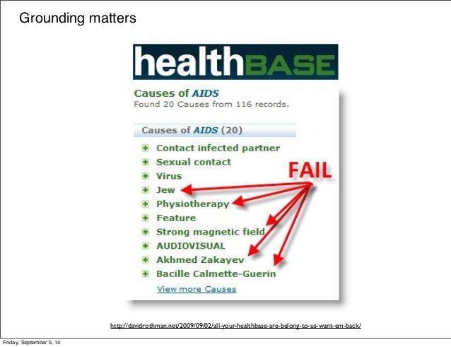 Grounding matters  http://davidrothman.net/2009/09/02/all-your-healthbase-are-belong-to-us-want-em-back/  Friday, Septembe...