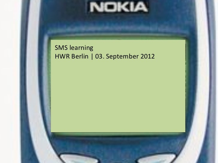 SMS learningHWR Berlin | 03. September 2012
