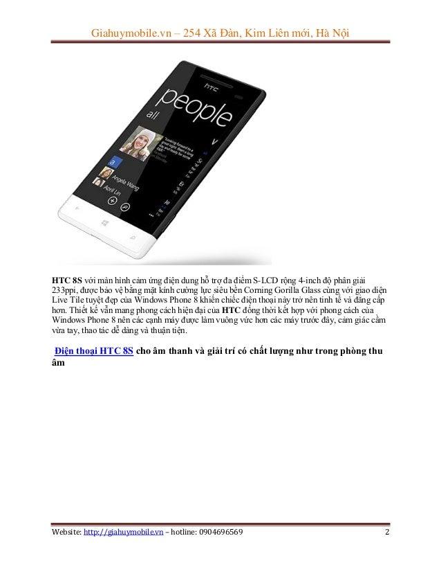 Đánh giá cơ bản điện thoại htc 8s Slide 2