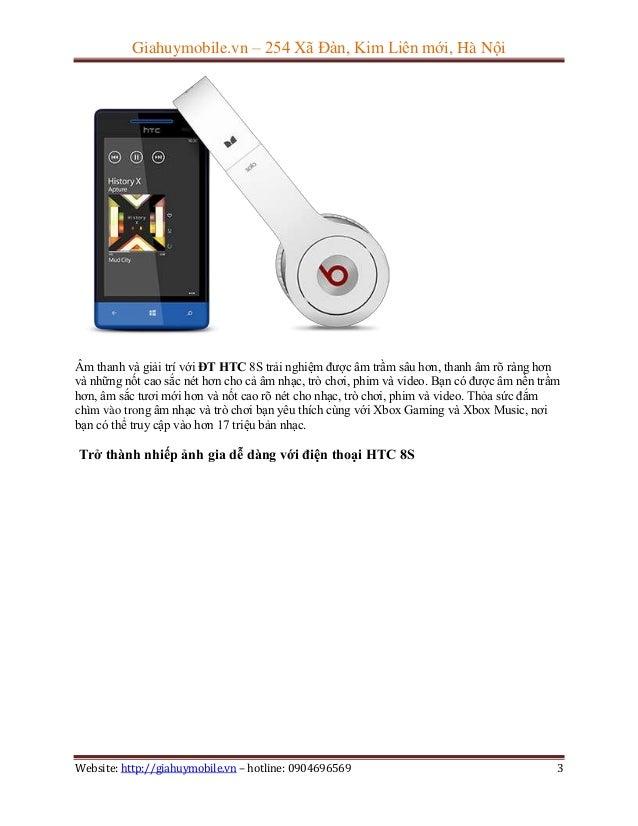 Đánh giá cơ bản điện thoại htc 8s Slide 3