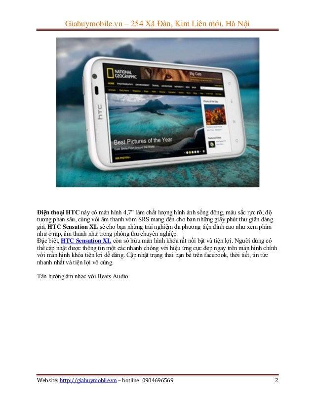 Đánh giá điện thoại htc sensation xl Slide 2