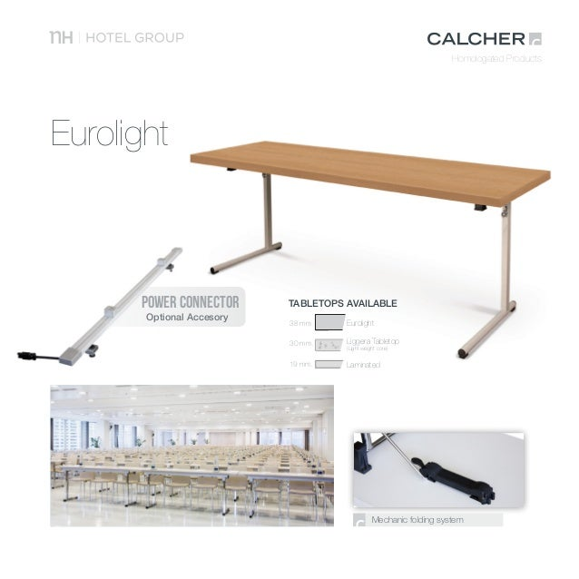 TABLETOPS AVAILABLE Eurolight POWER CONNECTOR Optional Accesory; 15.  Homologated Products NH Collection Podium Coffee Furniture ...