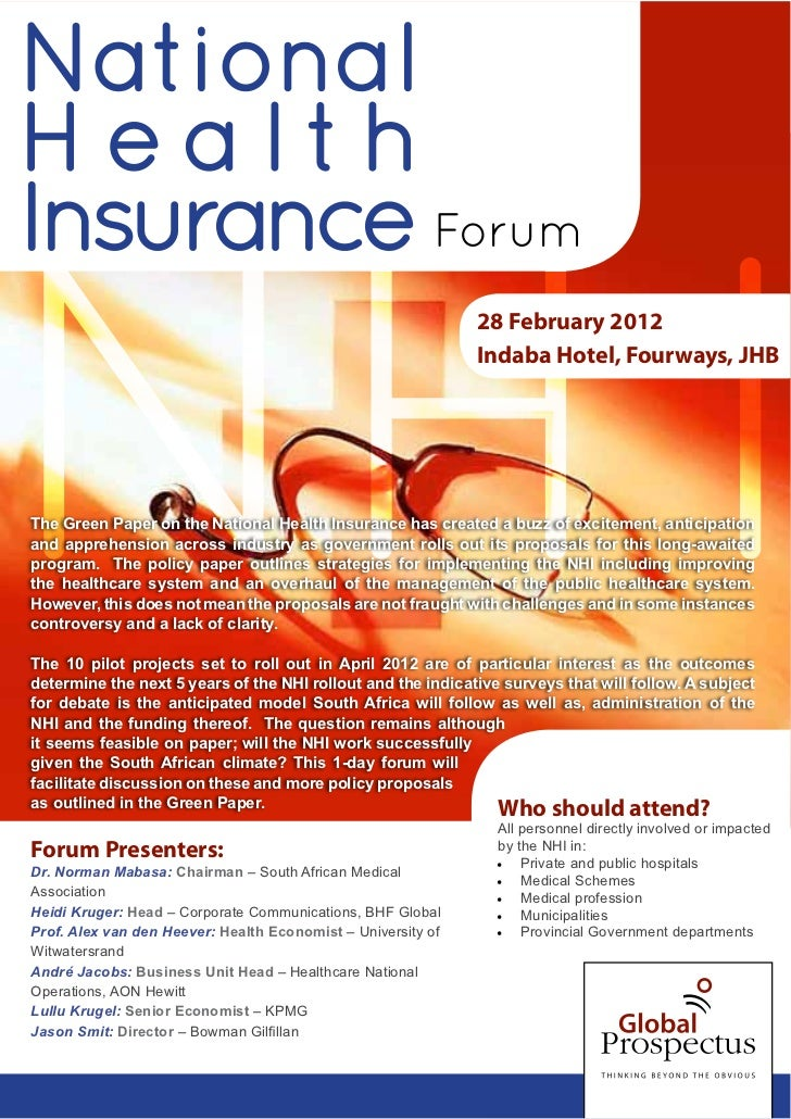 NationalHealthInsurance Forum                                                                               28 February 20...