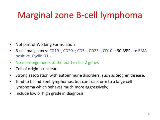non hodgkin lymphomamarginal zone b cell lymphoma
