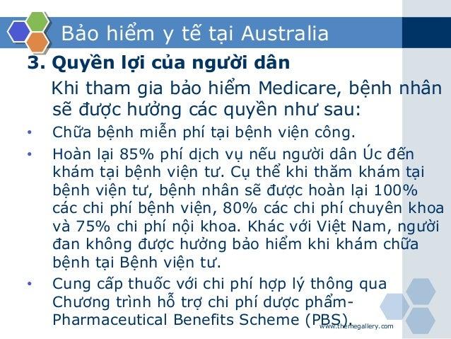 Bảo hiểm y tế tại Australia 3. Quyền lợi của người dân Khi tham gia bảo hiểm Medicare, bệnh nhân sẽ được hưởng các quyền n...
