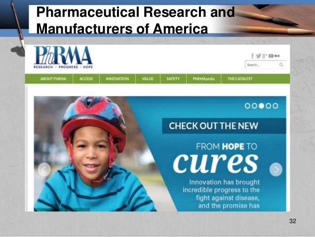 Pharmaceutical Research and Manufacturers of America 32