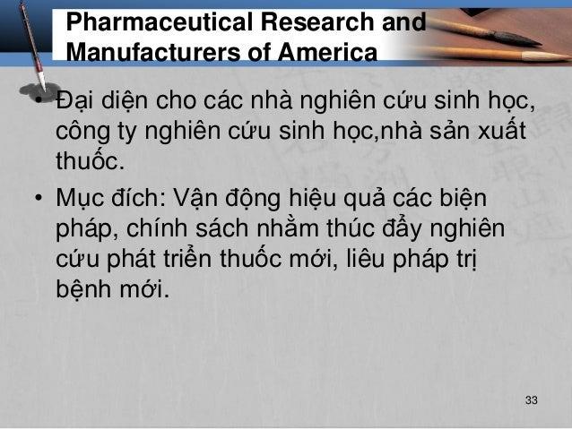Pharmaceutical Research and Manufacturers of America • Đại diện cho các nhà nghiên cứu sinh học, công ty nghiên cứu sinh h...