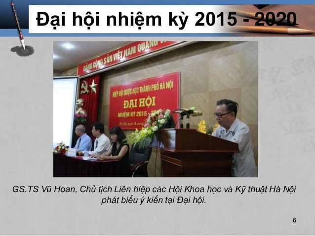 Đại hội nhiệm kỳ 2015 - 2020 GS.TS Vũ Hoan, Chủ tịch Liên hiệp các Hội Khoa học và Kỹ thuật Hà Nội phát biểu ý kiến tại Đạ...