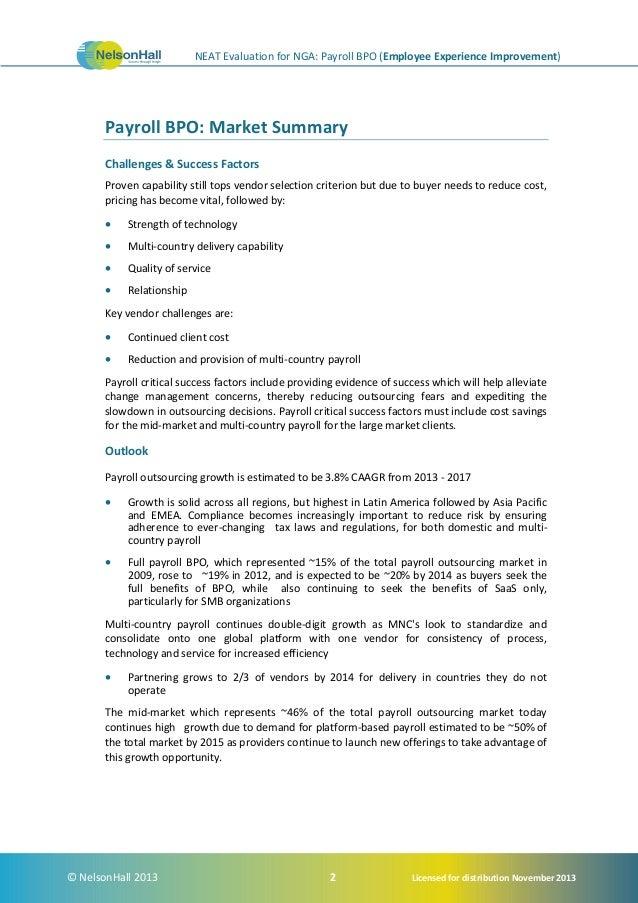 NelsonHall's NEAT report identifies NGA's payroll leadership (Employe…