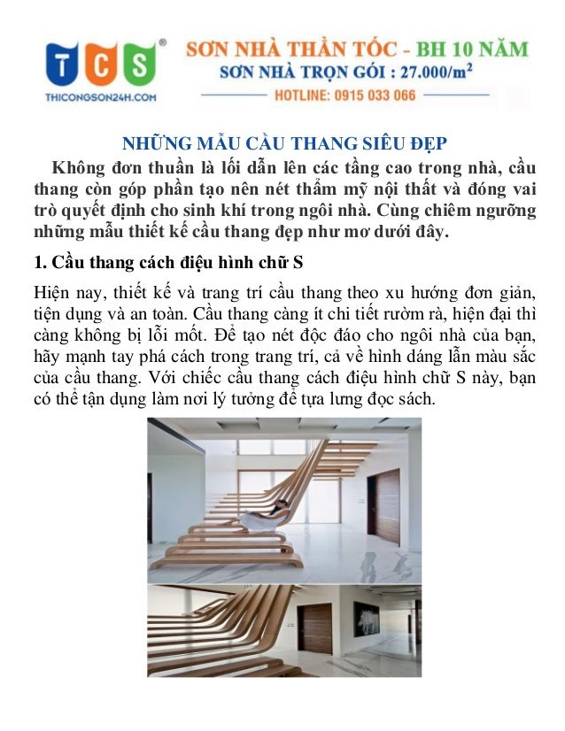 NHỮNG MẪU CẦU THANG SIÊU ĐẸP Không đơn thuần là lối dẫn lên các tầng cao trong nhà, cầu thang còn góp phần tạo nên nét thẩ...