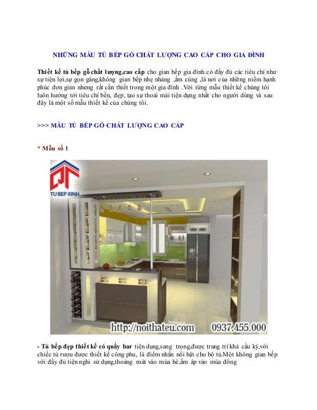 NHỮNG MẪU TỦ BẾP GỖ CHẤT LƯỢNG CAO CẤP CHO GIA ĐÌNH Thiết kế tủ bếp gỗ chất lượng,cao cấp cho gian bếp gia đình có đầy đủ ...