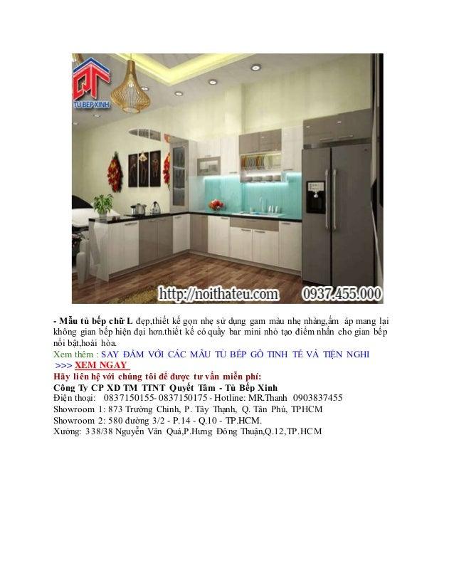 - Mẫu tủ bếp chữ L đẹp,thiết kế gọn nhẹ sử dụng gam màu nhẹ nhàng,ấm áp mang lại không gian bếp hiện đại hơn.thiết kế có q...