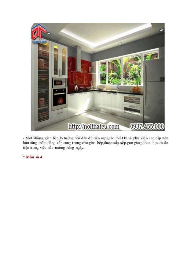 - Một không gian bếp lý tưởng với đầy đủ tiện nghi,các thiết bị và phụ kiện cao cấp nên làm tăng thêm đẳng cấp sang trọng ...