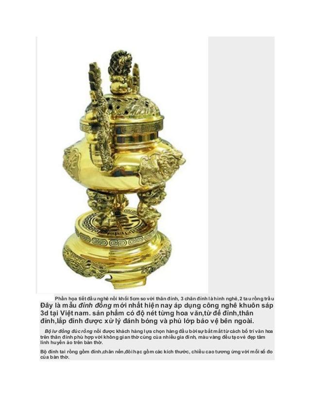 Đồ thờ cao cấp đúc nổi 3d,đỉnh đồng dapha,đồ đồng thờ cúng đại phát Slide 2