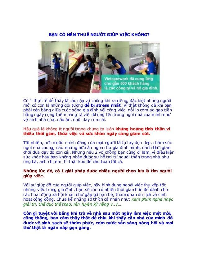 Báo giá dịch vụ giúp việc uy tín ở Sài Gòn - Báo giá dịch vụ giúp việc gia đình uy tín ở Sài Gòn BẠN CÓ NÊN THUÊ NGƯỜI ...