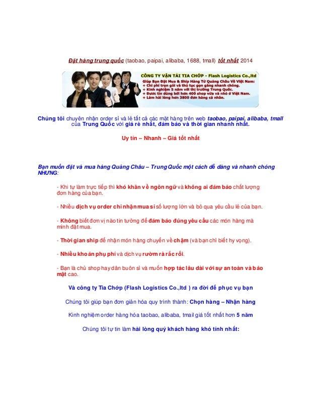 Công ty hỗ trợ đặt mua hàngTrungQuốc bảođảm hàngđầu - Công tyhỗ trợ đặt mua tmall Trung Quốc chất lượng caotại Sài Gòn Đặt...