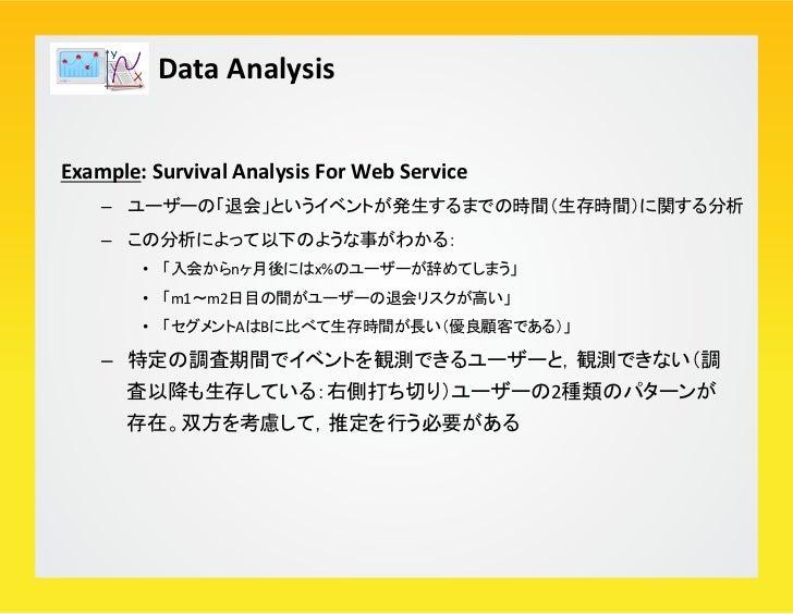 "Data Analysis R Smaple Code:  > library(survival) > surv <-‐ read.csv(""./survival.csv"", header=T)..."
