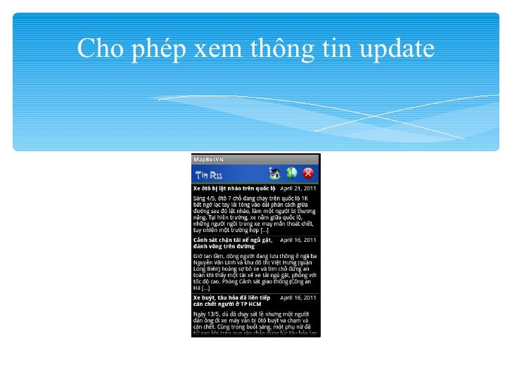 Cho phép xem thông tin update