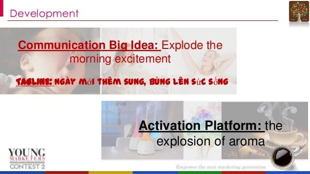 Development  Communication Big Idea: Explode the morning excitement TAGLINE: Ngày mới thêm sung, bùng lên sức sống  Activa...