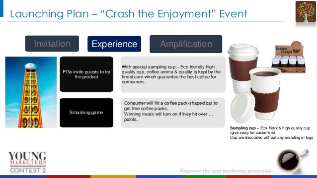 """Launching Plan – """"Crash the Enjoyment"""" Event Invitation  Experience  Amplification  PGs invite guests to try the product  ..."""
