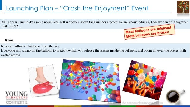 """Launching Plan – """"Crash the Enjoyment"""" Event MC appears and makes some noise. She will introduce about the Guinness record..."""