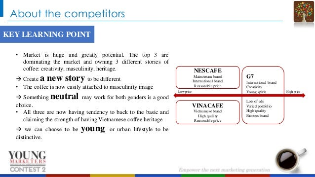 About the competitors KEY LEARNING POINT • Market is huge and greatly potential. The top 3 are dominating the market and o...