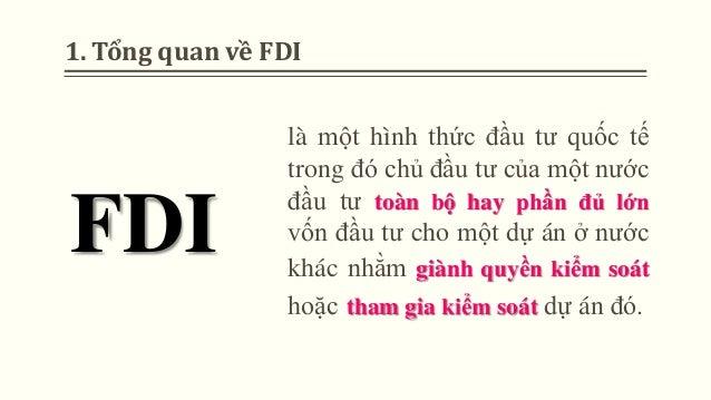 Tác động của FDI đến nước chủ đầu tư và nhận đầu tư Slide 3