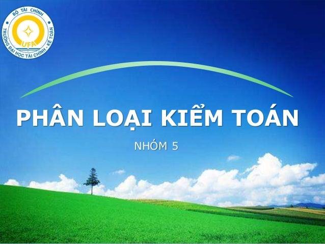 LOGO PHÂN LOẠI KIỂM TOÁN NHÓM 5