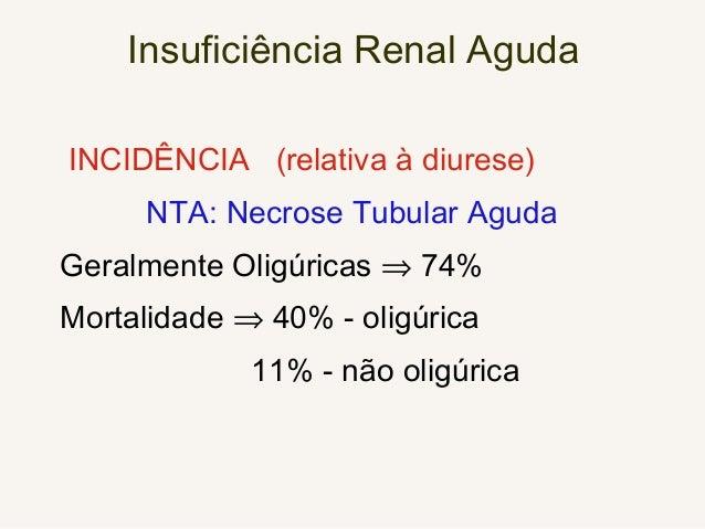 INSUFICIÊNCIA RENAL AGUDA Sinais e Sintomas • Os sintomas dependem da gravidade da insuficiência renal, de sua velocidade ...