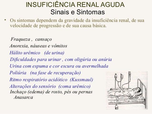 SÍNDROME NEFRÓTICA Edemas, desde facial até anasarca Sintomas da doença de base Sintomas de insuficiência renal crônica Ri...
