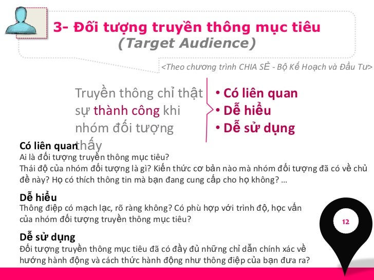 3- Đối tượng truyền thông mục tiêu                 (Target Audience)                                   <Theo chương trình ...