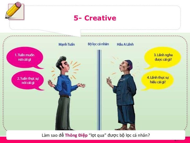 """5- Creative                                                       14Làm sao để Thông Điệp """"lọt qua"""" được bộ lọc cá nhân?"""