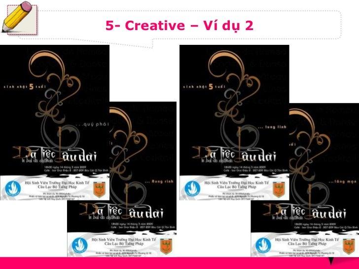 5- Creative – Ví dụ 2                        17