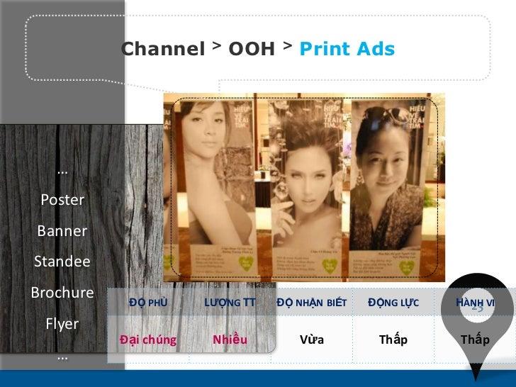 Channel      >   OOH   >   Print Ads   … PosterBannerStandeeBrochure    ĐỘ PHỦ     LƯỢNG TT   ĐỘ NHẬN BIẾT   ĐỘNG LỰC   HÀ...