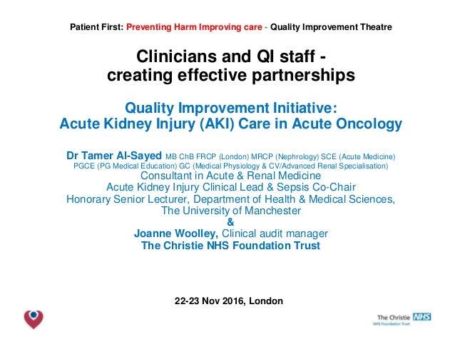 QI initiative: Acute Kidney Injury (AKI) Care in Acute Oncology