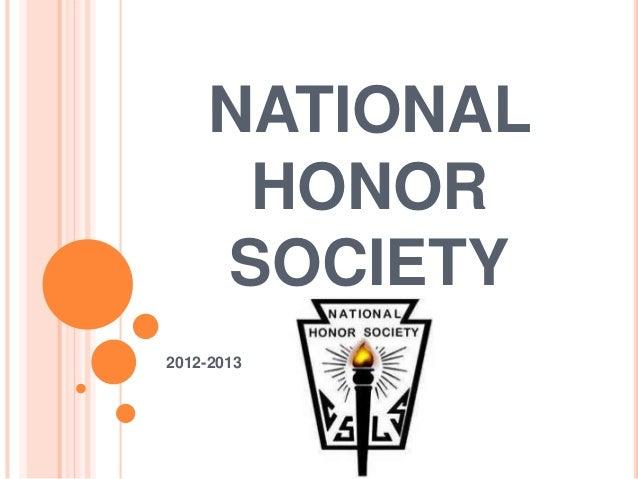 NATIONAL     HONOR    SOCIETY2012-2013